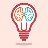 Постер, плакат: Creative Left Brain And Right Brain Vector