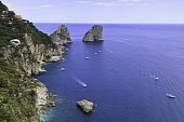 Beautiful View Of Faraglioni In Capri