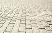 picture of paved road  - Brick stone street road - JPG