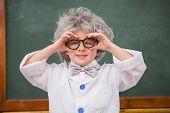 pic of pupils  - Pupil wearing peruke and eyeglasses at elementary school - JPG