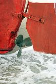 picture of old boat  - Old boat engine propeller - JPG