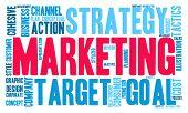 pic of market segmentation  - Marketing word cloud on a white background - JPG