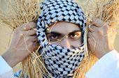 foto of muslim kids  - Kids on wheat field - JPG