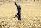 foto of arab man  - Arabic young man in nature - JPG