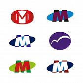 stock photo of letter m  - Letter M icon template element vector design - JPG