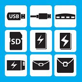 image of memory stick  - USB flash drive - JPG