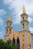Mazatlan Mexico Downtown Church Landmark