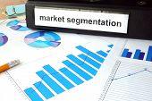 foto of market segmentation  - Folder with the label market segmentation and charts - JPG