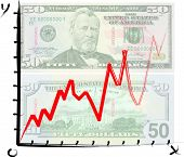 Us Dollar Graph - Vector
