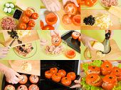 Cooking Of Stuffed Tomato