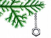New Year's Fur-Tree Branch