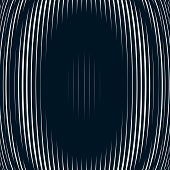 Постер, плакат: Optical Background With Monochrome Geometric Lines Moire Pattern Trance Effect