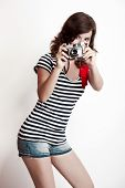 Fashion Woman With A Camera