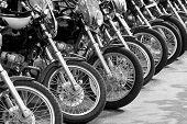 Bicicletas en una fila