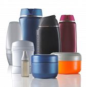group of product packaging