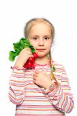 Child With Vegetable In The Hand