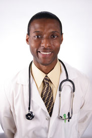 picture of rn  - a stock image of an african american doctor - JPG