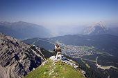 Looking Down On Seefeld In Austria