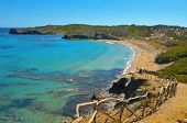 view of En Tortuga beach in Menorca, Balearic Islands, Spain