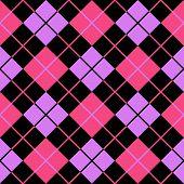 Argyle Violet Pink Seamless Background