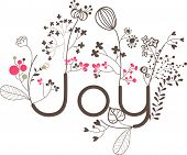 lovely joy card print