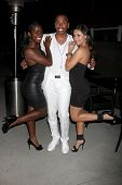 LOS ANGELES - JUN 4:  Camille Winbush, Darnell Appling, Francia Raisa at the Darnell Appling Birthda