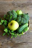 Green Vegetables poster