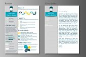 Resume And Cover Letter Collection.  Modern Cv Set With Infograp poster