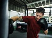 Boxing Challenge Exercise Sport Workout Practise Concept poster