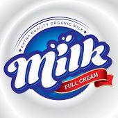 milk packaging design (vector)