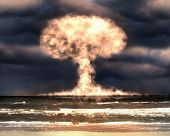 pic of nuke  - Nuclear explosion in an outdoor setting - JPG