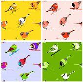 Birds Seamless Pattern Tiles