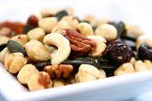 Bowlful Of Almond Pecan Hazelnuts And Sunflower Seeds