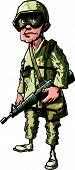 Cartoon american soldier