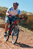 Mountain Biker Downhill