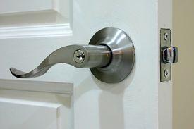 stock photo of door-handle  - door handle close - JPG