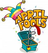 stock photo of gag  - Illustration Celebrating April Fools - JPG