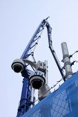 New York  -  Oct 8: A Nypd Surveillance Camera Installed Near The World Trade Center Site On October