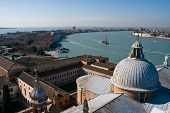 Aerial View Of Giudecca Island In Venice