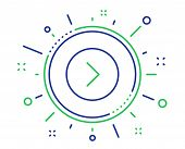 Forward Arrow Line Icon. Next Arrowhead Symbol. Next Navigation Pointer Sign. Quality Design Element poster