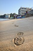 Footstep On Beach, Cheung Chau