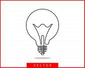 Light Bulb Icon Vector. Llightbulb Idea Logo Concept. Lamp Electricity Icons Web Design Element. Led poster
