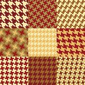 Nine Houndstooth Patterns