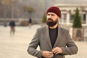 Outfit Hat Accessory. Hipster Outfit. Stylish Casual Outfit For Fall And Winter Season. Menswear And poster