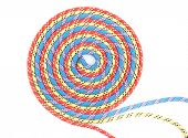 red,blue,yellow rope spiral