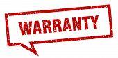 Warranty Speech Bubble On White Background. Warranty Sign poster