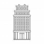 Vector Illustration Of Skyscraper And Hotel Icon. Collection Of Skyscraper And Office Stock Vector I poster