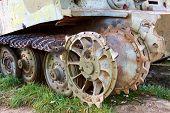 part of PzKpfw VI Tiger destroyed tank