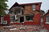 Christchurch Earthquake - Cranmer Square House Collapses