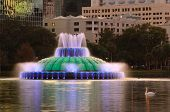Fountain in Eola Lake in Orlando, Florida